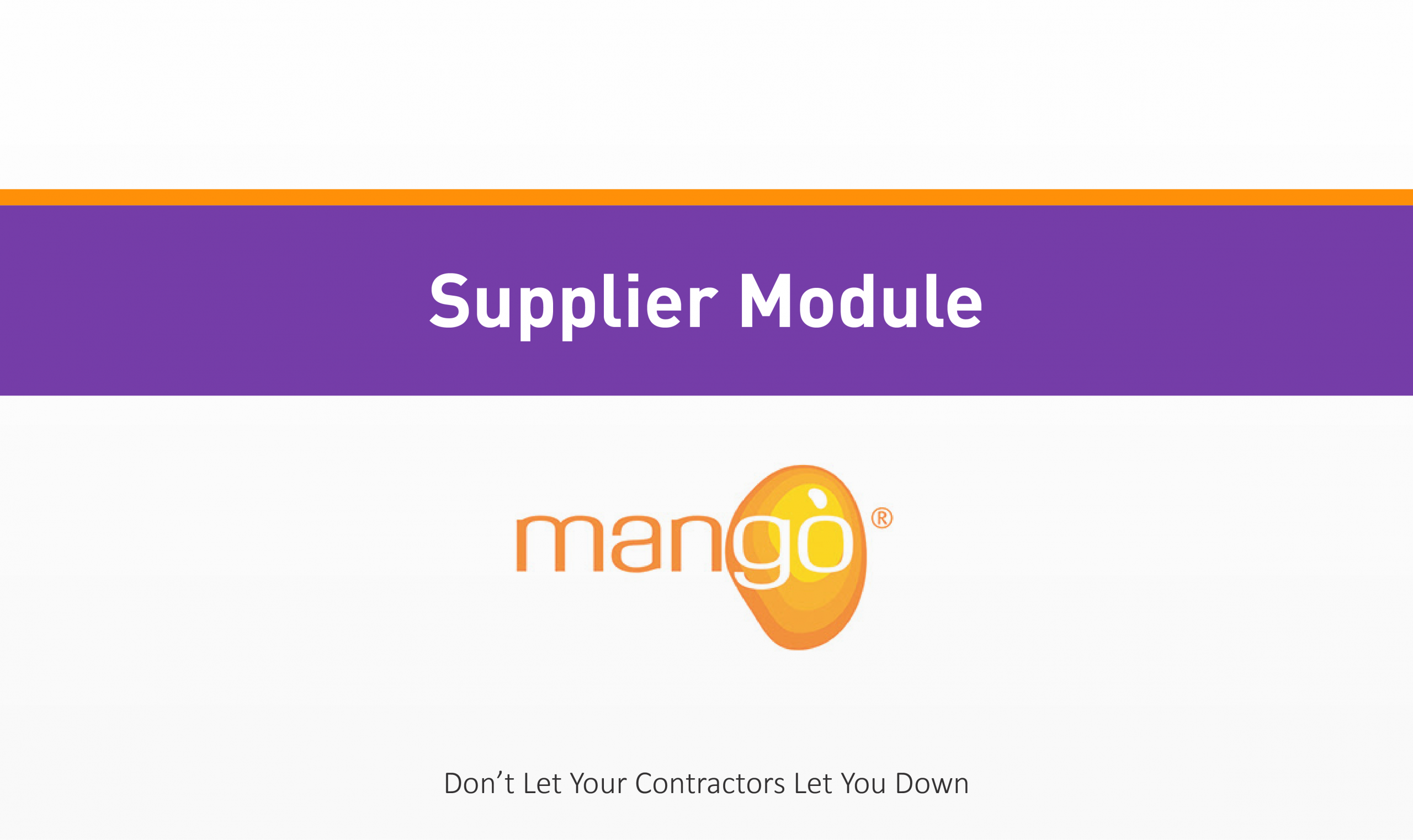 Supplier Training Module Quality Health Safety Environment Management Compliance Services Australia QHSE Consulting And Auditing Mango Compliance Software Solutions
