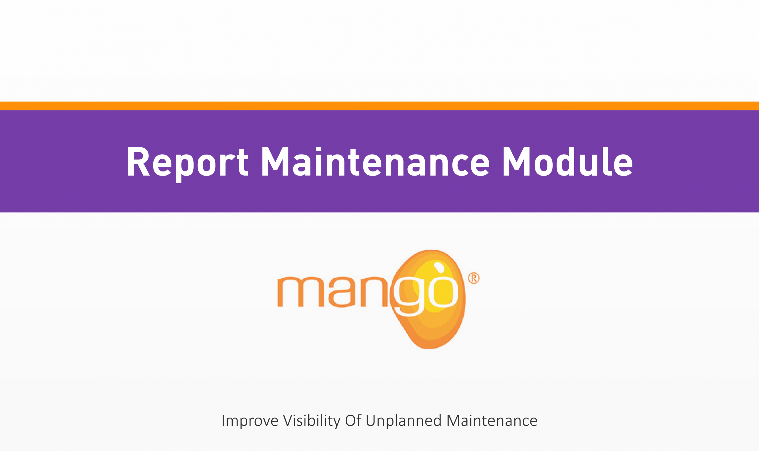Report Maintenance Module Training Compliance Management Perth Australia