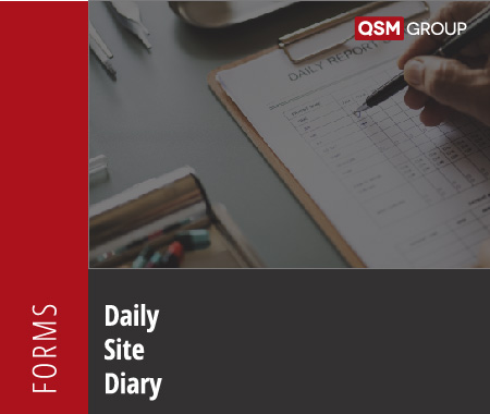Daily Site Diary For Risk Management QHSE Management