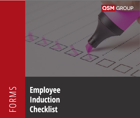 Employee Induction Checklist Template Quality Health Safety Environment Management Compliance Services Australia QHSE Consulting And Auditing Mango Compliance Software Solutions