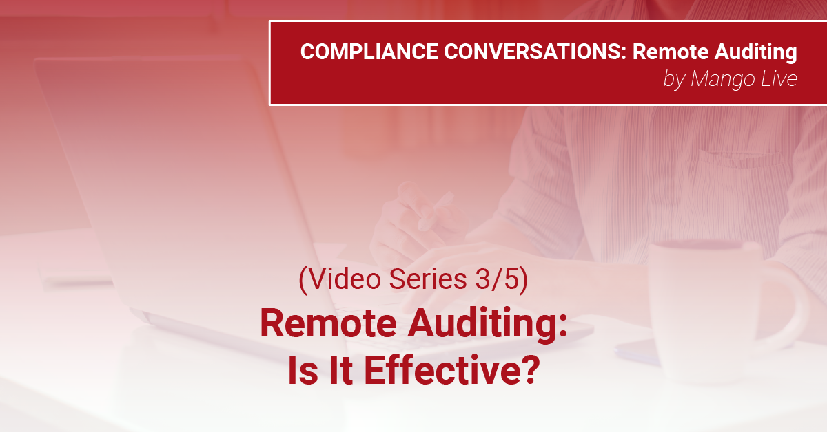 (Video Series 3/5) Remote Audits: Are They Effective?